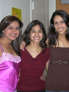 Picture of Lalan, Aruna and Gowri.